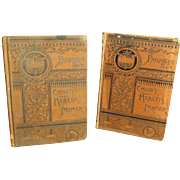 Wonderful Pair of Early Old PATHFINDER Child's Health Primer School Books 1885