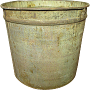 SALE Great Old Vintage Metal Maple Syrup Sap Bucket