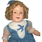 """SOLD Sweet Ideal Shirley Temple Composition Doll 27"""" =CP Ntc 1930's"""