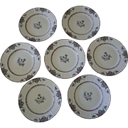 Set of Seven Wedgwood Saxon Salad Plates