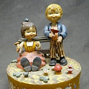 """SALE Vintage Anri Italy Rotating Music Box - """"We've Only Just Begun"""""""