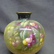 "SALE Royal Bonn 8"" Ball Vase with Pretty Cherries"