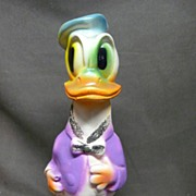 SALE Vintage Chalk Donald Duck Figure