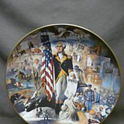 "SALE Gorham ""200 Years With Old Glory"" George Washington Decorator Plate"