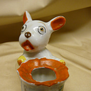 SOLD 1934 Chicago World's Fair Polka Dot Dog Toothpick Holder