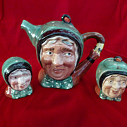 Beswick England Sairey Gamp Tea Set