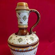 Art Nouveau Mettlach Villeroy & Boch Liqueur Bottle #1328