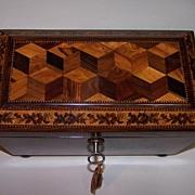 Tunbridge Ware Tea Caddy c.1860