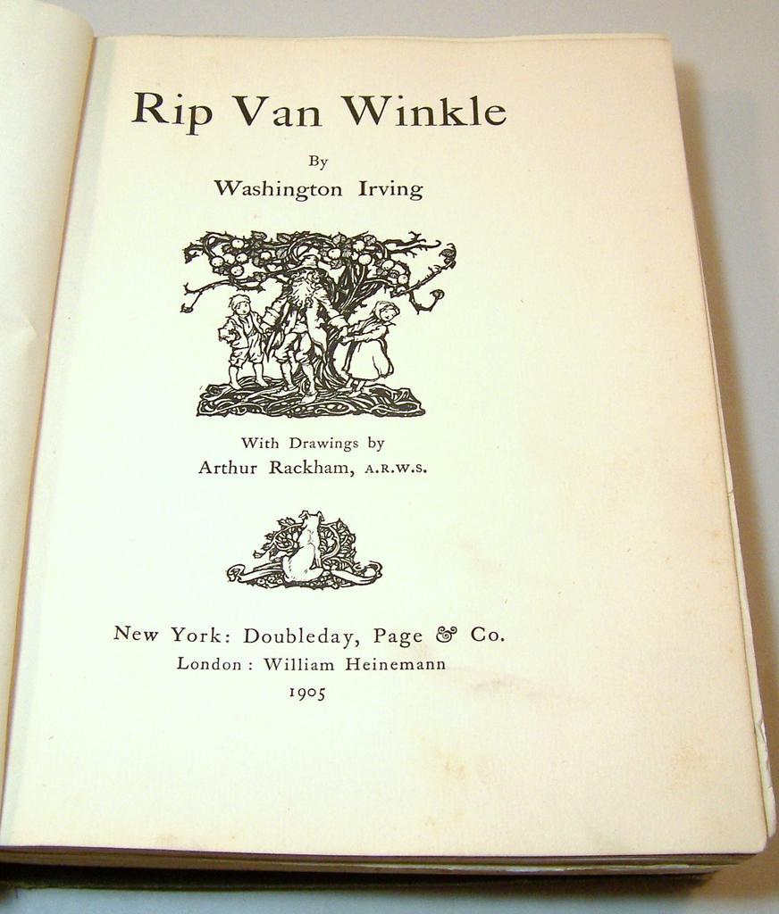 Irving Rip Van Winkle Arthur Rackham Illus First U S