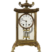 Seth Thomas Bronze 1900 Antique Crystal Regulator Clock