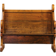 Victorian 1860's Antique Pine Pew or Bench