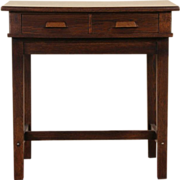 Oak 1900 Antique Stand Up or Stool Height Desk