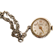 Swiss Vintage Semca Pendant Necklace Exposed Escapement Watch