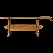 Carpenter 1900 Country Pine Workbench, Wine Table, Kitchen Island