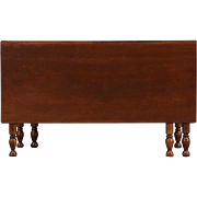 Cherry 1840's Antique Gateleg Dining or Sofa Table