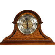 Sligh Westminster Mahogany & Marquetry Mantel Clock, German Hermle Movement