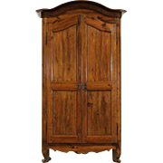 Country Pine French Provincial 1800 Antique Armoire, Hand Hewn