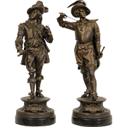 Pair of Antique 1890's Statues, Don Juan & Don Cesar