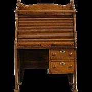 Child Size Oak S Curve Rolltop 1895 Antique Desk