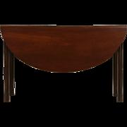 Georgian Period 1780's Antique Mahogany Gateleg Dining, Sofa or Hall Table