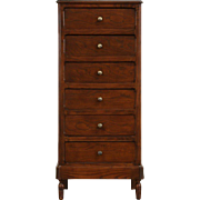 Tall Narrow Chest of Drawers, Lingerie Chest, 1915 Oak & Ash Antique