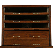 Oak 1910 Antique Spool Cabinet, Jewelry or Collector Chest