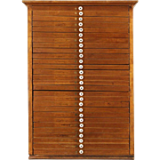 Collector File or Jewelry Chest, 28 Drawer Butternut 1890 Antique