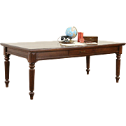 Victorian Eastlake 1880 Antique Oak Library, Conference or Dining Table