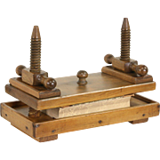 Pine 1900 Antique Bookbinder Book Press, Wooden Screws