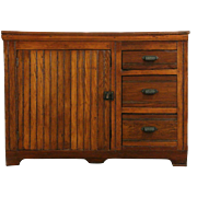Country Pine Pantry 1890's Antique Dry Sink, Wainscoting