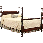 Queen Size Empire Mahogany 1910 Antique Poster Bed