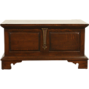 Oak Vintage Trunk, Chest or Coffee Table, Brass Latch