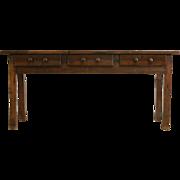 Dutch East Indies Primitive Teak Console or Sofa Table