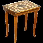 Jewel Chest & Vintage Italian Inlaid Music Box Table