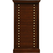 Mahogany 1880 Antique 17 Drawer Collector File or Jewelry Cabinet