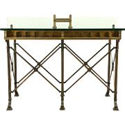 Bronze Bank Counter 1900 Architectural Salvage, Kitchen Island Wine Cheese Table