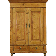 Country Pine Antique 1850's Armoire, Wardrobe or Linen Closet