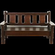 Arts & Crafts Mission Oak 1905 Antique Bench or Settee