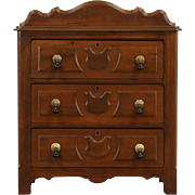 Victorian 1885 Antique Walnut Small Chest, Commode or Nightstand