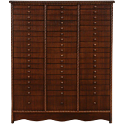 1930's Vintage 54 Drawer File or Collector Specimen Cabinet, Jewelry Chest