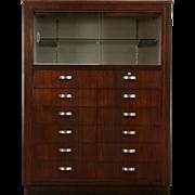 Midcentury Modern 1950's Vintage 12 Drawer Doctor's Medical Cabinet