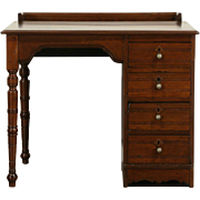 Victorian Eastlake 1880 Antique Walnut Desk, Bookshelf Gallery