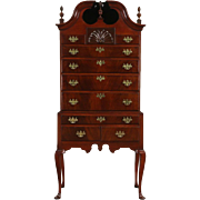 Georgian Late 1700's Mahogany Tall Chest on Chest or Highboy