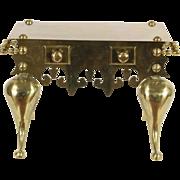 Brass English Georgian Style Vintage Fireplace Trivet or Teakettle Stand