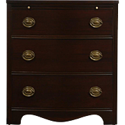 Georgian Style Bowfront 1940's Vintage 3 Drawer Chest
