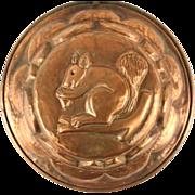 Squirrel Vintage Copper Mold, Hand Hammered