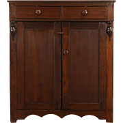 Pantry 1860's Antique Handcrafted Maple & Poplar Jelly Cupboard