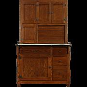 Hoosier Oak 1915 Antique Kitchen Pantry Cupboard, Flour Sifter & Roll Top