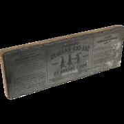 See Der Rabbits O'Brien Malted Milk 1920 Antique Printer Advertising Type Plate