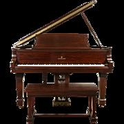 Steinway 1947 Mahogany Model L Grand Piano & Bench